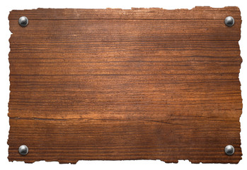 Wooden board with rivets