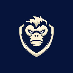 Kong Shield Guard Illustration Vector Logo