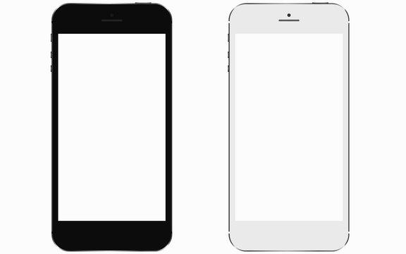 2 smartphones with blank screen
