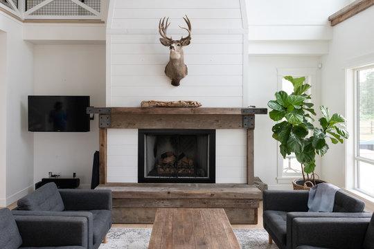 Interior of a suburban country home