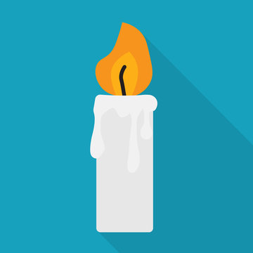 candle icon- vector illustration