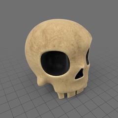 Stylized skull