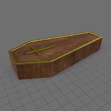 Stylized coffin with cross
