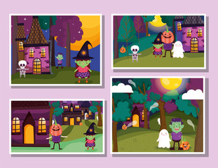 frame photos celebration trick or treat - happy halloween