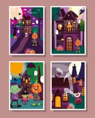 frame photos celebration memories trick or treat happy halloween
