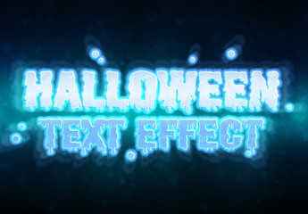 Halloween Ghost Text Effect Mockup