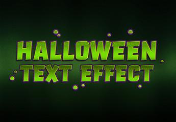 Halloween Goblin Text Effect Mockup
