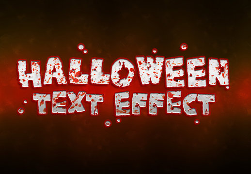 Halloween Bloody Text Effect Mockup