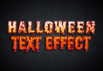 Halloween Bloody Text Effect Mockup