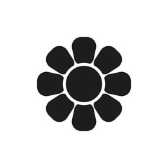 Flower icon. Black silhouette. Isolated object on a white background. Isolate.