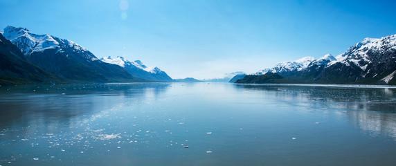 Panoramic view of beautiful Glacier Bay in Alaska.