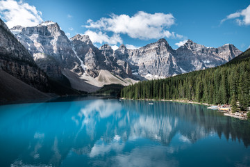 Tuinposter Canada Beautiful Moraine lake in Banff national park, Alberta, Canada