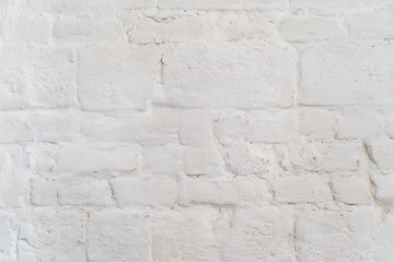Photo of old white brick wall texture