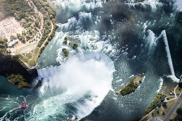 Aerial view of Niagara waterfall.