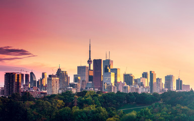 Deurstickers Toronto Toronto city view from Riverdale Avenue at Night. Ontario, Canada