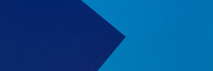 Abstract blue and light blue color paper geometry composition banner background