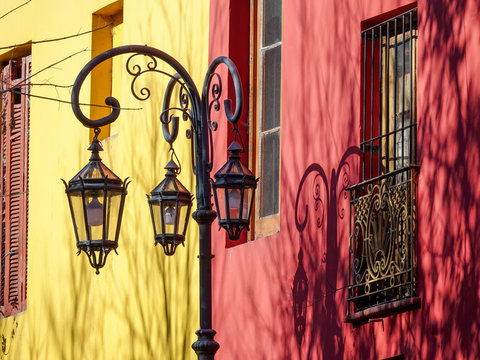 Colorful streets of Caminito in La Boca, Buenos Aires, Argentina