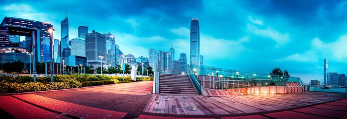 Fotomurales - Urban Scene of Hong Kong at Night