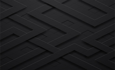 3d vector black and line square background with shadow,grunge surface-illustration,abstract