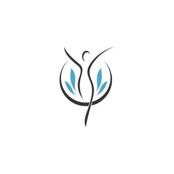 Wellness vector logo design template