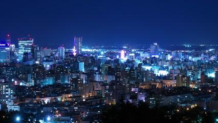 Fotobehang Las Vegas 日本新三大夜景を照らす中秋の名月
