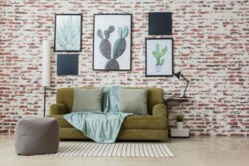 Interior of modern comfortable living room