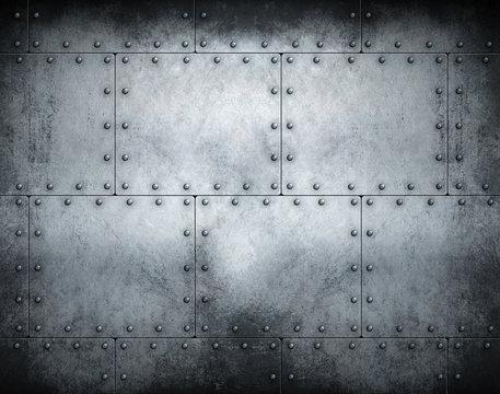 Dark steampunk metal background 3d illustration