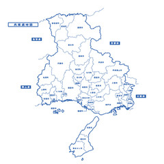兵庫県地図 シンプル白地図 市区町村