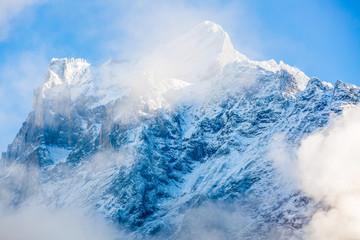 Mountain Clouds Towards Sunrise Beautiful Morning Peaks Inspirational Motivational Nature