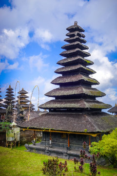 Pura Besakih temple on mount Agung, Bali, Indonesia