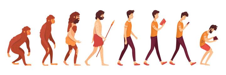 Gadget addiction problem flat vector illustration