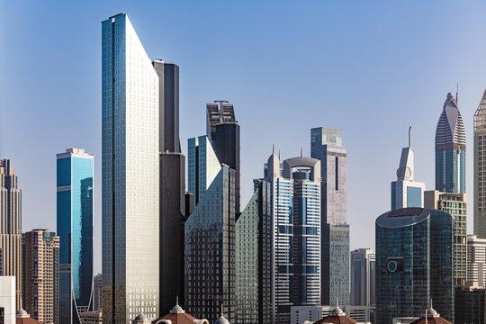 Buidings of Dubai International Financial Centre in Dubai, United Arab Emirates.