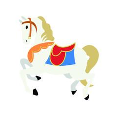 Carousel horse circus vector emoji