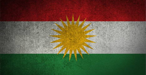 Kurdistan Flag Texture
