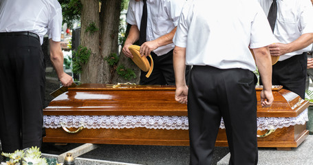 funeral ceremonies, coffin in morgue , coffin in funeral