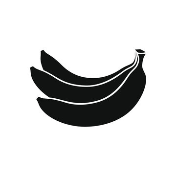 Bananas bunch graphic icon. Bananas fruit sign isolated on white background. Vector illustration