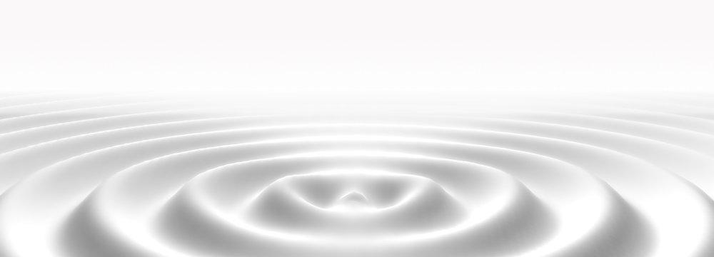 Liquid white ripple or milk cream wave abstract background