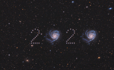 Figures from the stars of 2020. This image elements furnished by NASA
