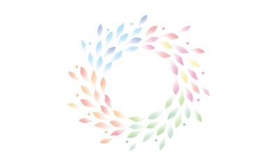 水彩 葉 四季