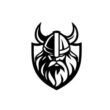 viking warrior barbarian vector illustration