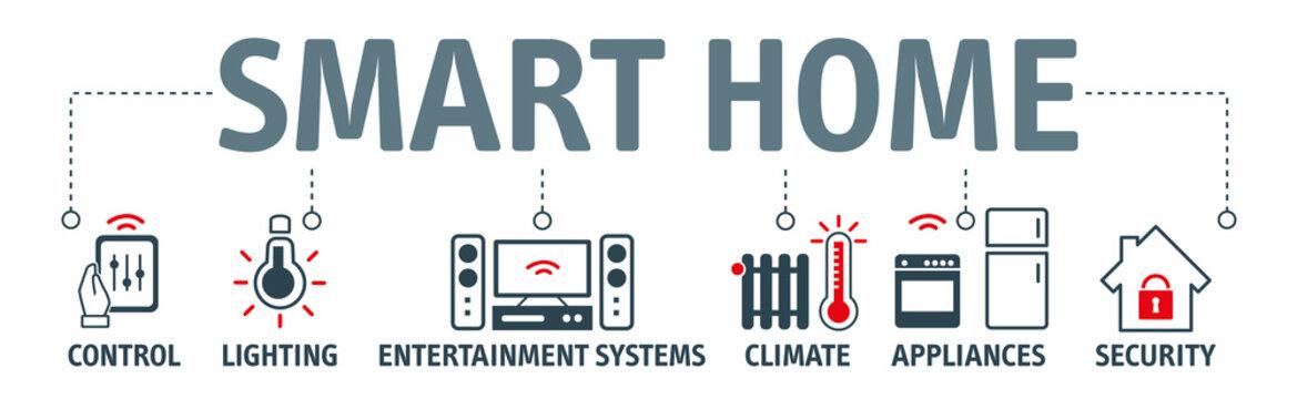 Banner smart home vector illustration