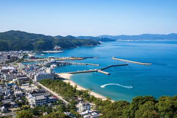 Cityscape of Sumoto city and port ,Awaji island ,hyogo,Japan