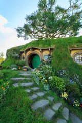 Hobbiton film set, Matamata, North Island, New Zealand