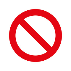 Prohibition sign. No Sign on white background