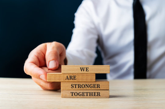 We are stronger together sign