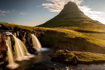 Iconic Kirkjufell mountain in iceland