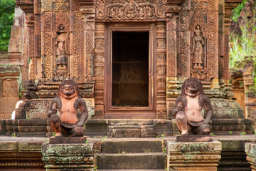 Monkey sculptures, Angkor Wat