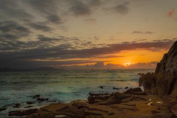 In de dag Baksteen beautiful sunset on the beach of Azkorri, Biscay