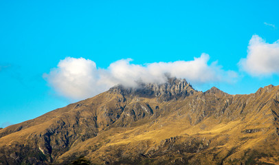 Cloud over the mountain top