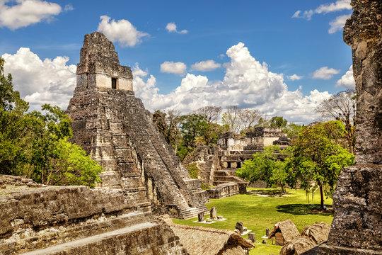 Tikal, Mayan Ruins, Temple I, The Great Jaguar, Main Plaza,  Guatemala